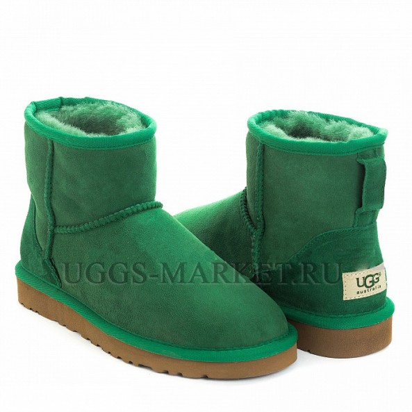 UGG Classic Mini II Dark Green