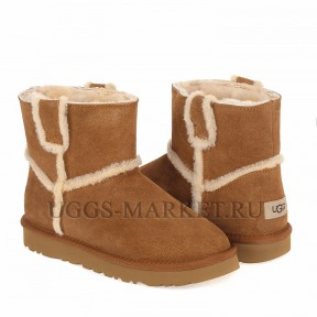 UGG Classic Mini Spill Seam Boot Chestnut