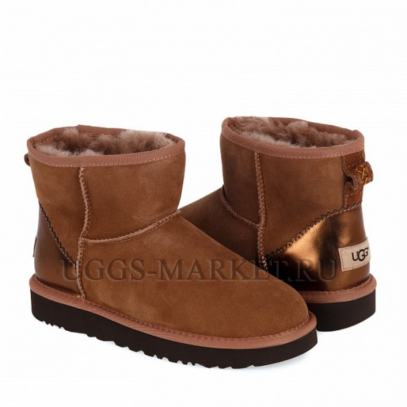 UGG Classic Mini II Metallic Chestnut