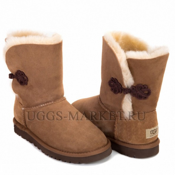 UGG Bailey Button Mariko Chestnut