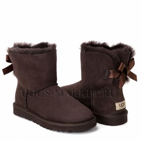 UGG Bailey Bow Mini II Chocolate