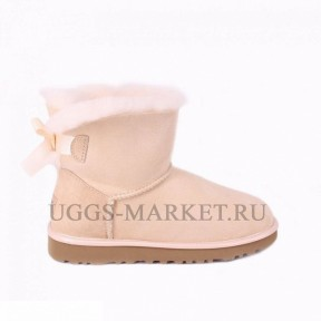 UGG Bailey Bow Mini II Metallic Sand