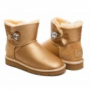 UGG Mini Bayley Button Bling Soft Gold