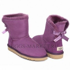 UGG Bailey Bow Mini Purple