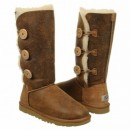 UGG Bailey Button Triplet Bomber Chestnut