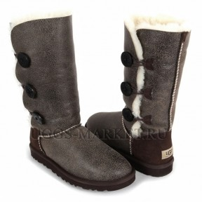 UGG Bailey Button Triplet Bomber Chocolate