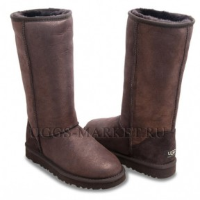UGG Classic Tall Glitter Chocolate