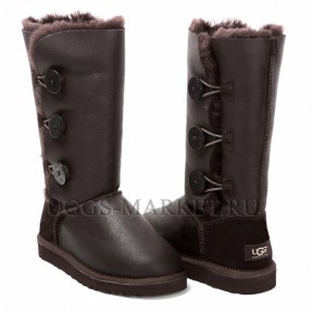 UGG Bailey Button Triplet Metallic Chocolate
