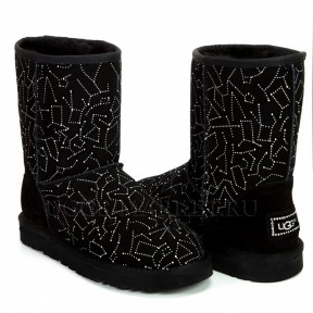 UGG Classic Short Constellation Black