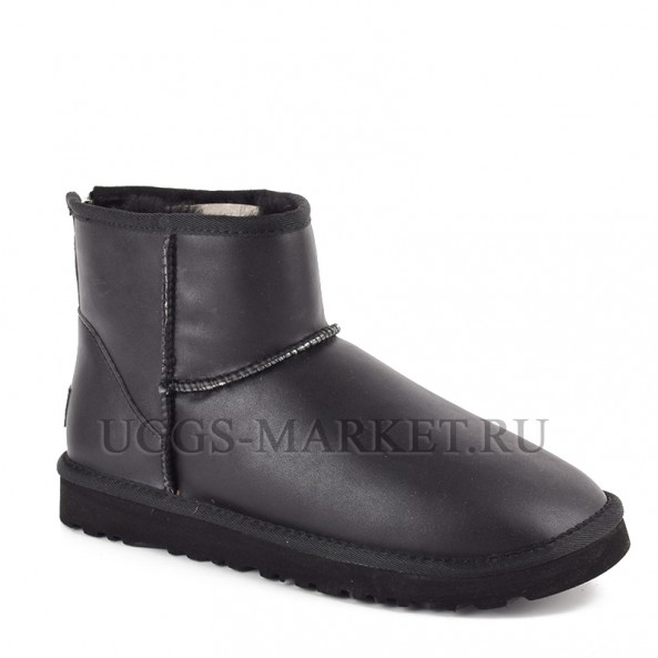 UGG Men's Mini One Zip Metallic Black
