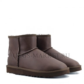 UGG Men's Mini One Zip Metallic Chocolate