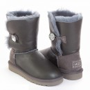 UGG Bailey Button Bling Metallic Grey