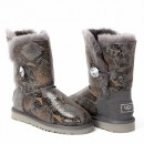 UGG Bailey Button Bling Snake Grey
