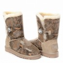 UGG Bailey Button Bling Snake Sand