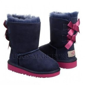 UGG Kids Bailey Bow Navy Pink