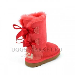 UGG Kids Bailey Bow Navy Red