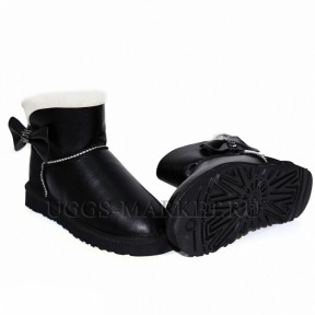 UGG Mini Bailey Bow Crystal Black