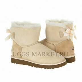 UGG Mini Bailey Bow II Metallic Amber light