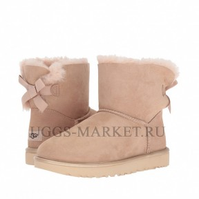 UGG Mini Bailey Bow II Metallic Driftwood