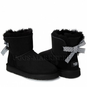 UGG Mini Bailey Bow Pattern Black
