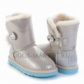 UGG Kids Bailey Button I Do White