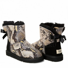 UGG Mini Bailey Bow Snake Black