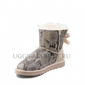 UGG Mini Bailey Bow Snake Light Sand