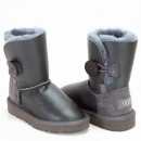UGG Kids Bailey Button Metallic Grey