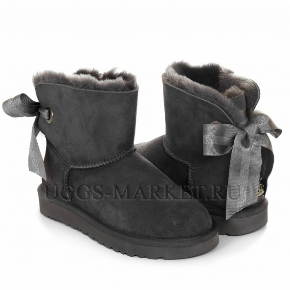 UGG Bailey Bow Mini Customizable Grey