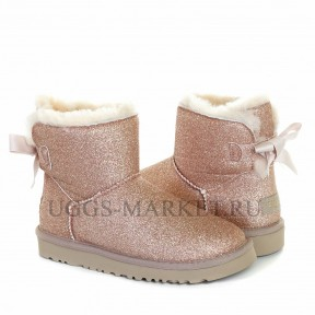 UGG Mini Bailey Bow Sparkle Boot Gold