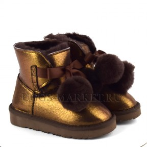 UGG Kids Gita Boot Metallic Chocolate