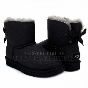 UGG Mini Bailey Bow Sparkle Boot Black