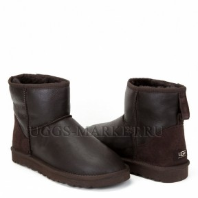 UGG Men's Classic Mini Metallic Chocolate