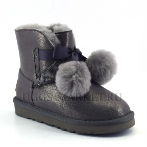 UGG Kids Gita Boot Metallic Grey