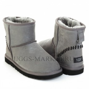 UGG Men's Classic Mini Nubuk Grey