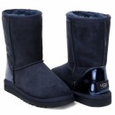 UGG Classic Short Patent Navy