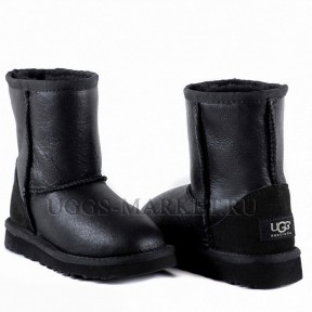 UGG Kids Classic Short Metallic Black