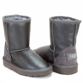 UGG Kids Classic Short Metallic Grey