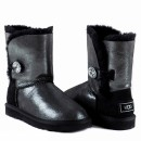 UGG Bailey Button I Do Sheepskin Boots Black
