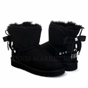 UGG Bailey Bow Mini Braid Black