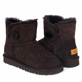 UGG Bailey Button Mini II Chocolate